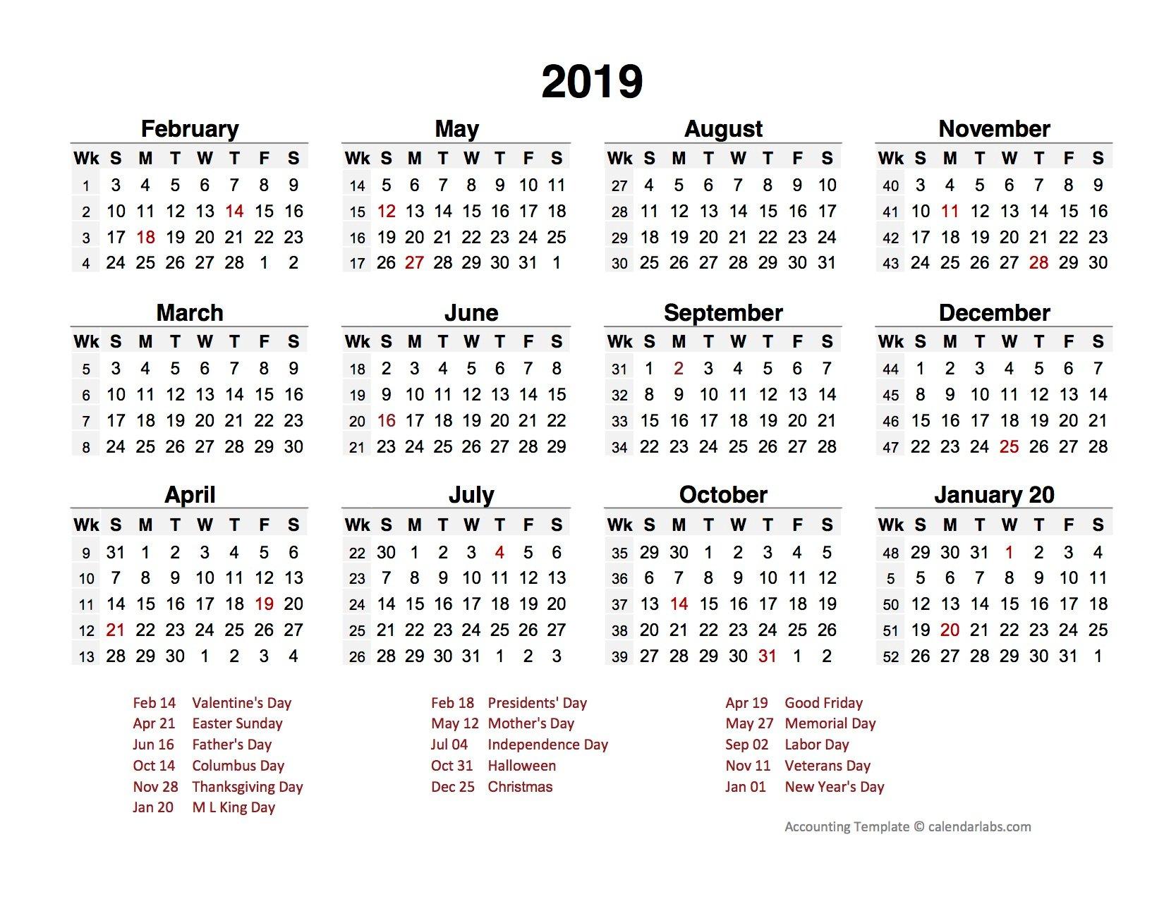 Botkeeper 4-4-5 calendar template