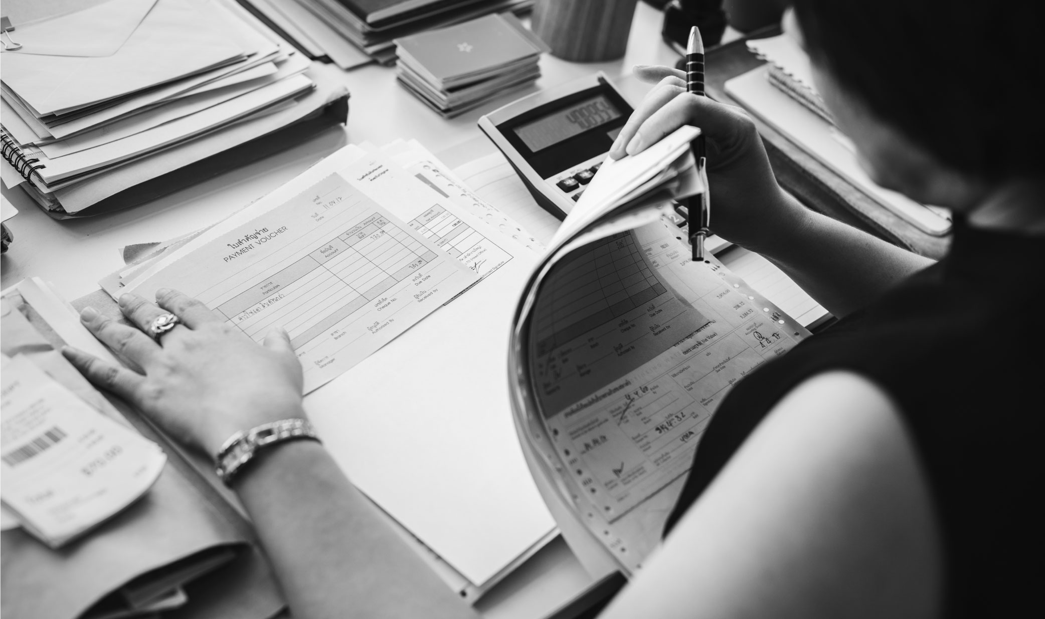 Accounting clutter paperwork-03