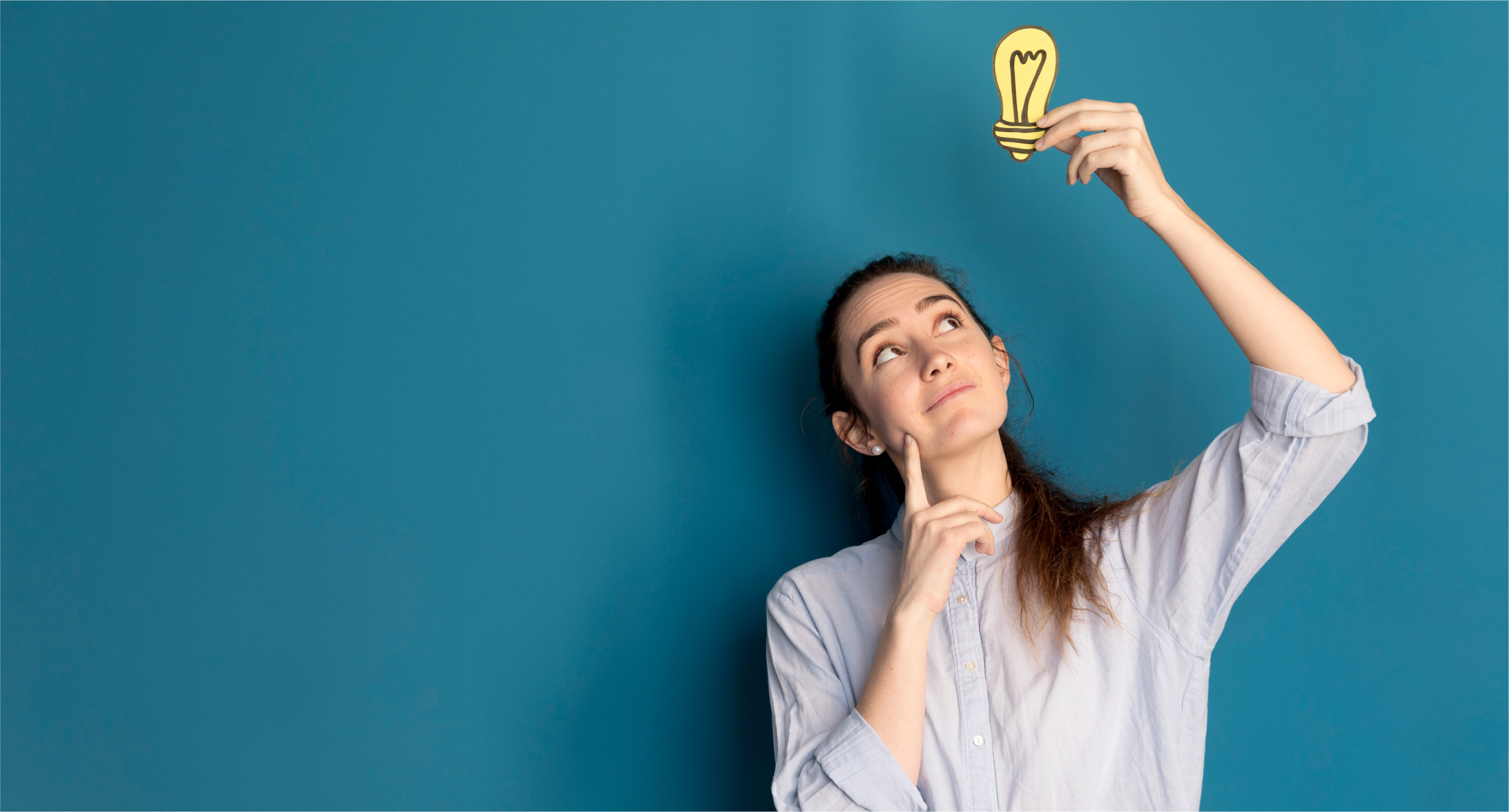 front-view-woman-holding-idea-light | Botkeeper