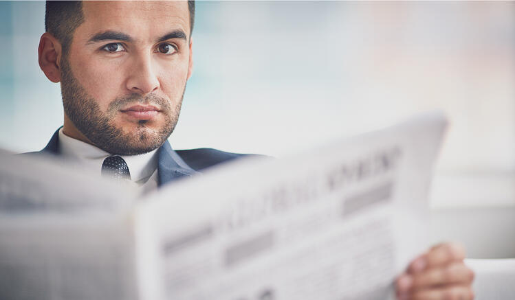 news paper curious suspicious doubtful pensive   Botkeeper