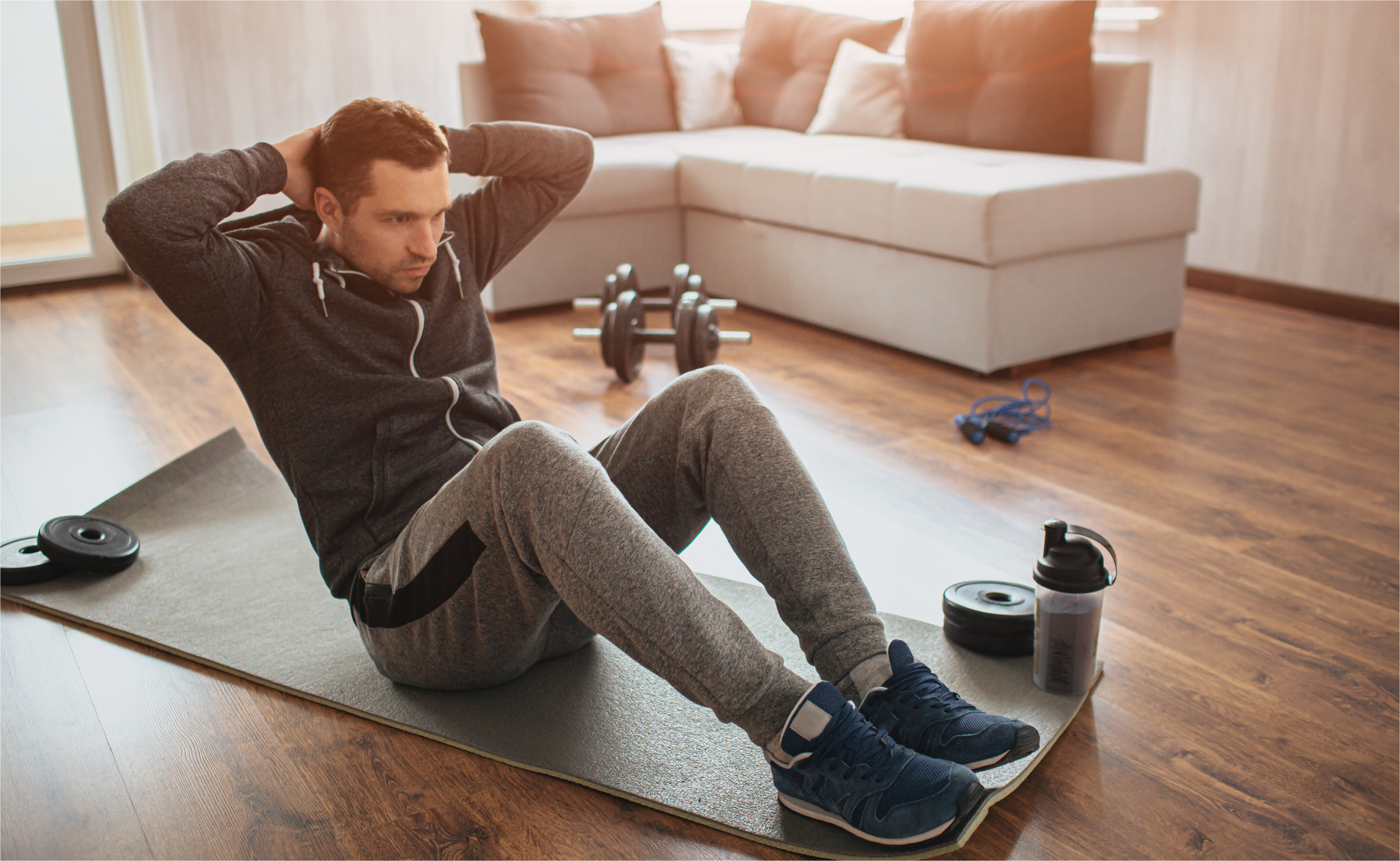 young-ordinary-man-go-sport-home-hardworking-freshman-sit-mat-abs-excercise-easy-start-workout-alone-apatment-beginner-action-sport-equipment-floor | Botkeeper