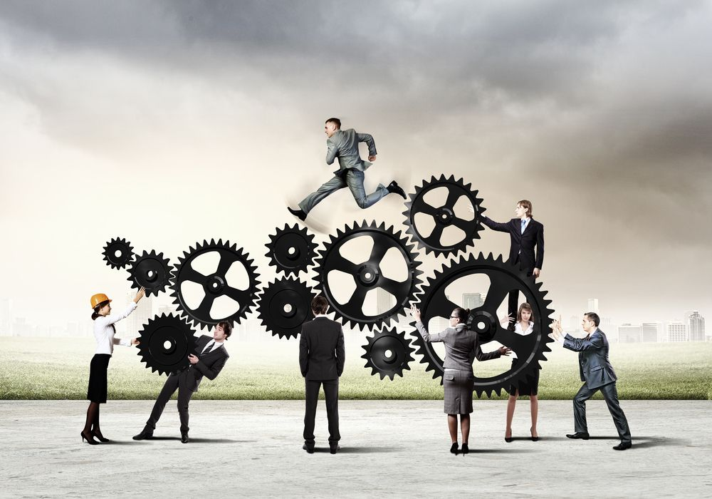Conceptual image of business team working cohesively. Interaction and unity  | Botkeeper