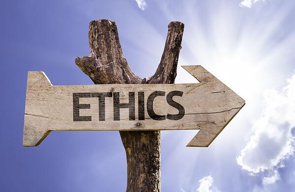 Ethics wooden sign on a beautiful day | Botkeeper