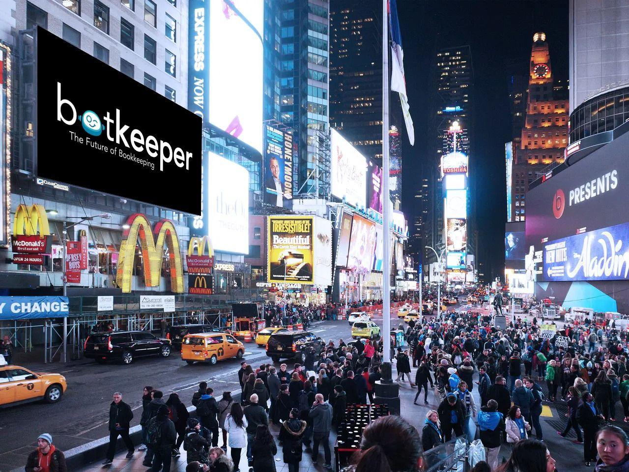 logo white billboard city